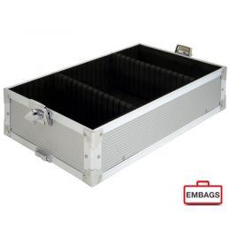 Präsentationskoffer Etage Klein Silber 1 - Alukoffer Onlineshop Embags