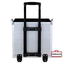 Präsentationskoffer Trolley Bodenteil Silber 1 - Alukoffer Onlineshop Embags