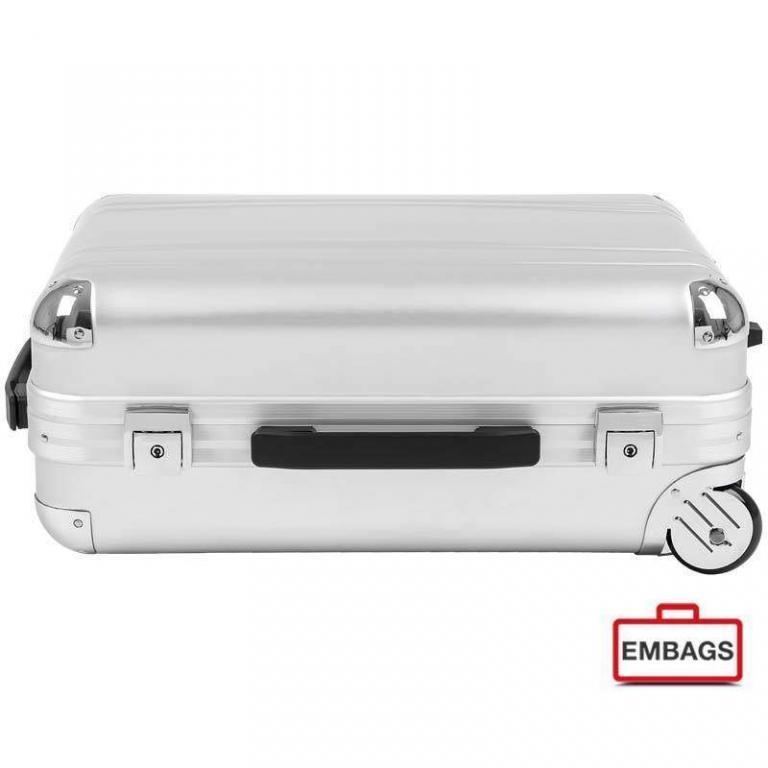Alu-Boardcase silber mit Trolley 0458